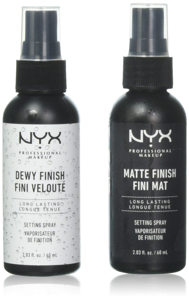 2 NYX Makeup Setting Spray MSS 01+02 Matte/Dewy Finish (Long Lasting) MSS 01+02