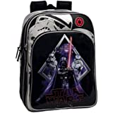 Star Wars 2192451 Darth Vader Mochila Escolar Adaptable a Carro, Color Negro