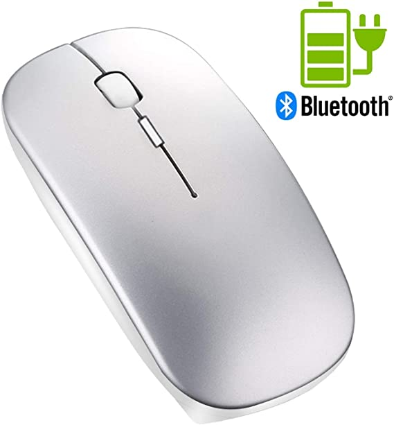 SOON GO Wireless Computer Mouse for Laptop Nltra-Thin USB Cordless Mouse Slim Noiseless Mice with 3 Adjustable DPI for Laptop Notebook PC White Color