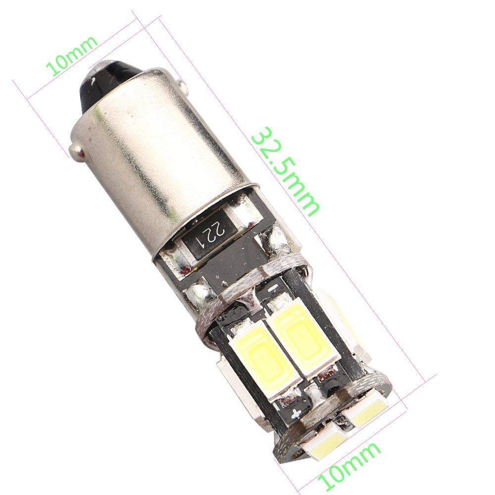 EverBrightt 20-Pack blanco T10 5630 10SMD Canbus LED iluminaci/ón de interiores Auto coche lateral marcador luz DC 12V