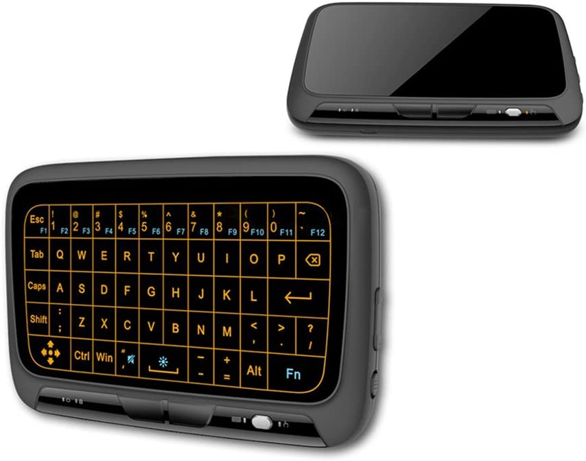 RONSHIN 2.4Ghz Mini Wireless Keyboard Backlit Full Screen Mouse Touchpad Combo for PC,Android Tv Box,PS3