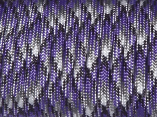 100ft 550 Paracord Parachute Cord Lanyard Mil Spec Type III 7 Strand Core (Purple -