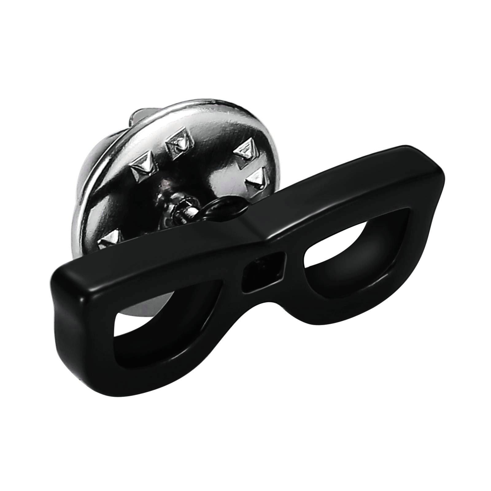 Aooaz Mens Stainless Steel Cufflinks Summer Sun Glasses Sunrays Black Business Wedding Shirt 2.1x0.7cm