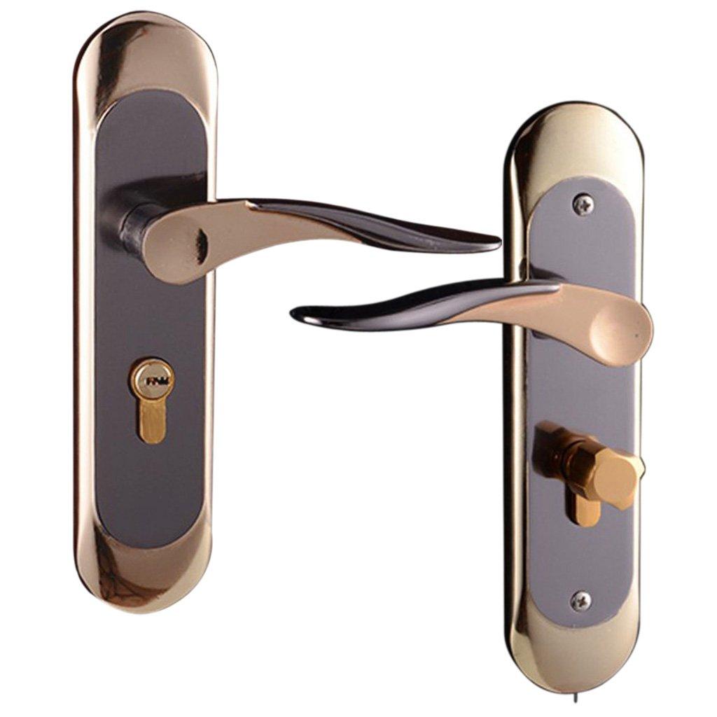 Baoblaze Aluminum Door Handle Sets Lever LATCH LOCK BEDROOM BATHROOMPRIVACY PACKS #5 by Baoblaze (Image #6)