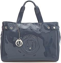 53d06576d062 Armani Jeans Medium Embossed Logo Patent Vinyl Bag (One size