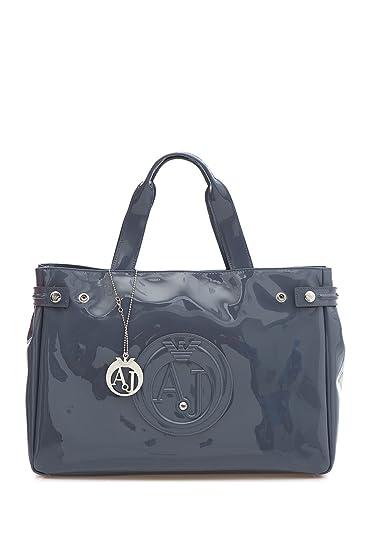 25ad6d10 Amazon.com: Armani Jeans Medium Embossed Logo Patent Vinyl Bag (One ...