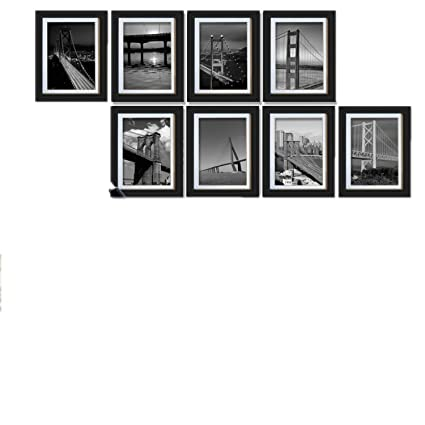 5x7 Photo Frame Set DIY Wall Hanging Black White Room Home Office Decoration
