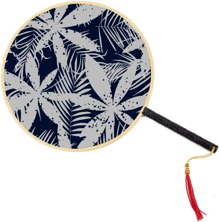 WYYWCY Marihuana Leaf of Cannabis Chinese Ancient Fan Classic Palace Paddle Fan Dance Dance Hand Fan Personal Hands Fans para Mujeres Cute Chinese Fan Hand Fan Men