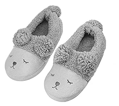 ddac4f6e543d Women Men Winter Warm House Slippers Soft Plush Full Feet Anti-Slip Shose  Thermal Thicken Lining Slippers 3D Sheep Design Animal Ankle Boots  Anti-Slip Mule ...