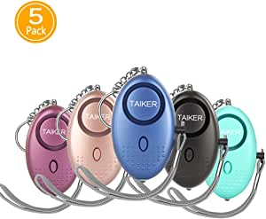 Personal Alarm for Women, 5 Pack 140DB Emergency Self-Defense Security Alarm Keychain with LED Light for Women Kids and Elders
