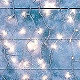 Prextex Christmas 100 Clear White Wire Light Set