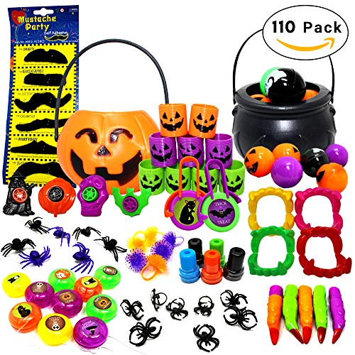THE TWIDDLERS 110 Pack - Halloween Favor Party Toys - Perfect for Party Favours - Pinata Fillers - Birthday & Halloween Parties ()
