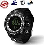 [New] Sunroad Multi-function Fishing Climbing Sports Outdoor Digital Watch Swiss Sensor Fishing Index Altimeter Compass Thermometer Weather Forecast etc. 50m/IP67 Waterproof