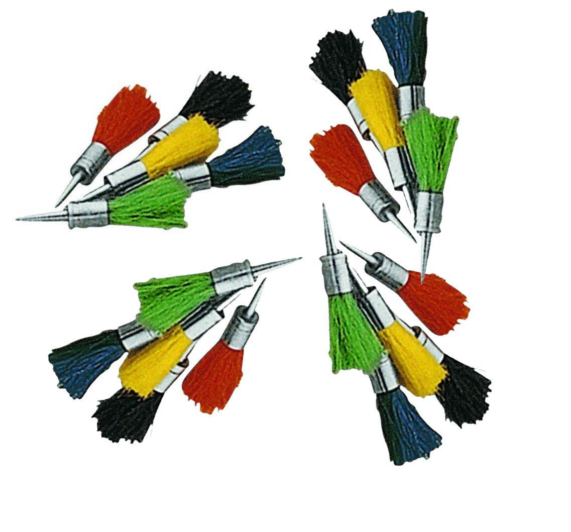 Set 20 flechas reutilizables de pelo de colores para usar en carabinas de aire comprimido del calibre 5, 5mm. Outletdelocio