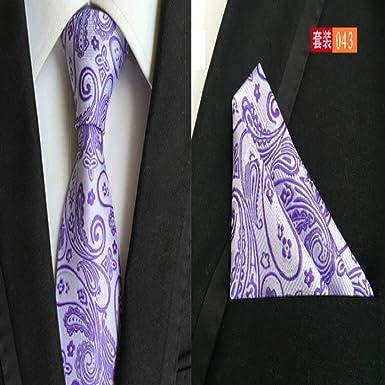 Corbata floral de moda 8cm Corbata de seda Pañuelo Conjunto Azul ...
