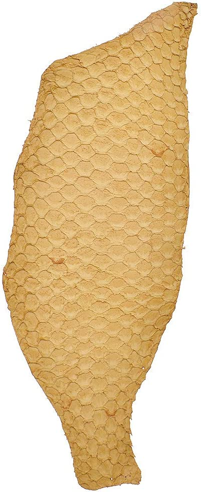 Kesheng 25x10cm Salmon Fish Skin Scale Leather Fabric DIY Bag Belt Shoe Patchwork Accessories