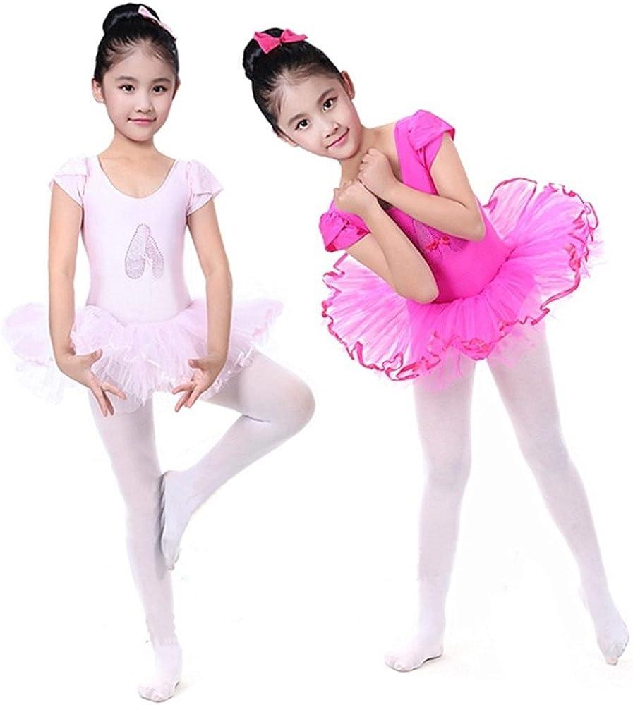 Oyedens Ragazza Leotard Vestito Tutu Balletto Dancewear Body Ginnastica Abbigliamento 2-6 Anni Danza Tuta Abiti Vestiti Lace Minigonna