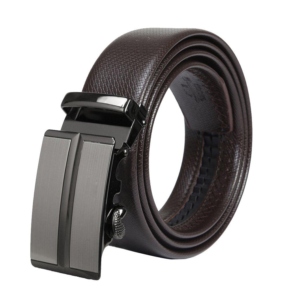 Lihaer Cinturón de Cuero para Hombre Cinturones Hebilla Automática  Cinturones para Caballero MJygyf794 739af06c28d3