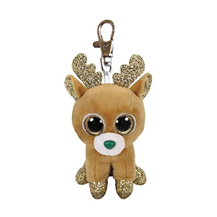 5526899ac68 Amazon.com  Ty Beanie Babies 35216 Boos Glitzy The Christmas Reindeer Boo  Key Clip  Toys   Games