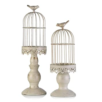 Amazon De Vintage Vogelkafig Kerzenleuchter Dekoration