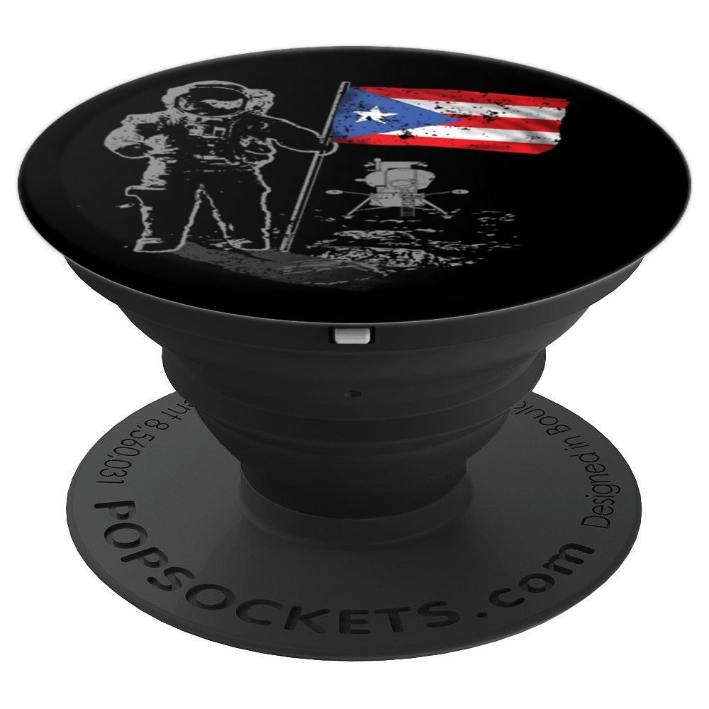 Solar System Puerto Rico Flag Space Exploration - PopSockets Grip and Stand for Phones and Tablets