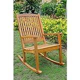 International Caravan TT-RO-03-STN-IC Furniture Piece Acacia Large Rocking Chair Review