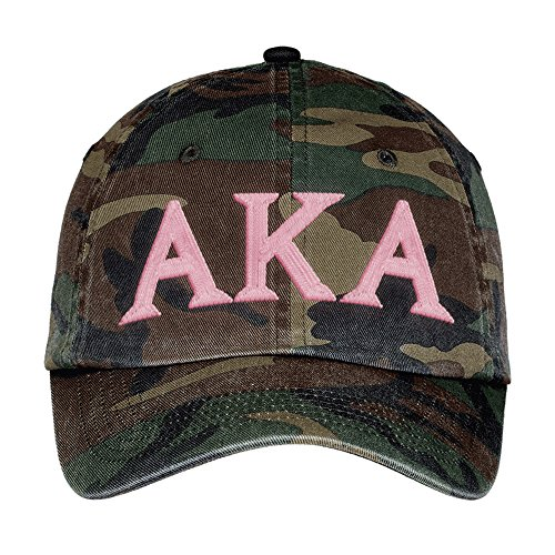 Alpha Kappa Alpha Lettered Camouflage Hat Military Camo