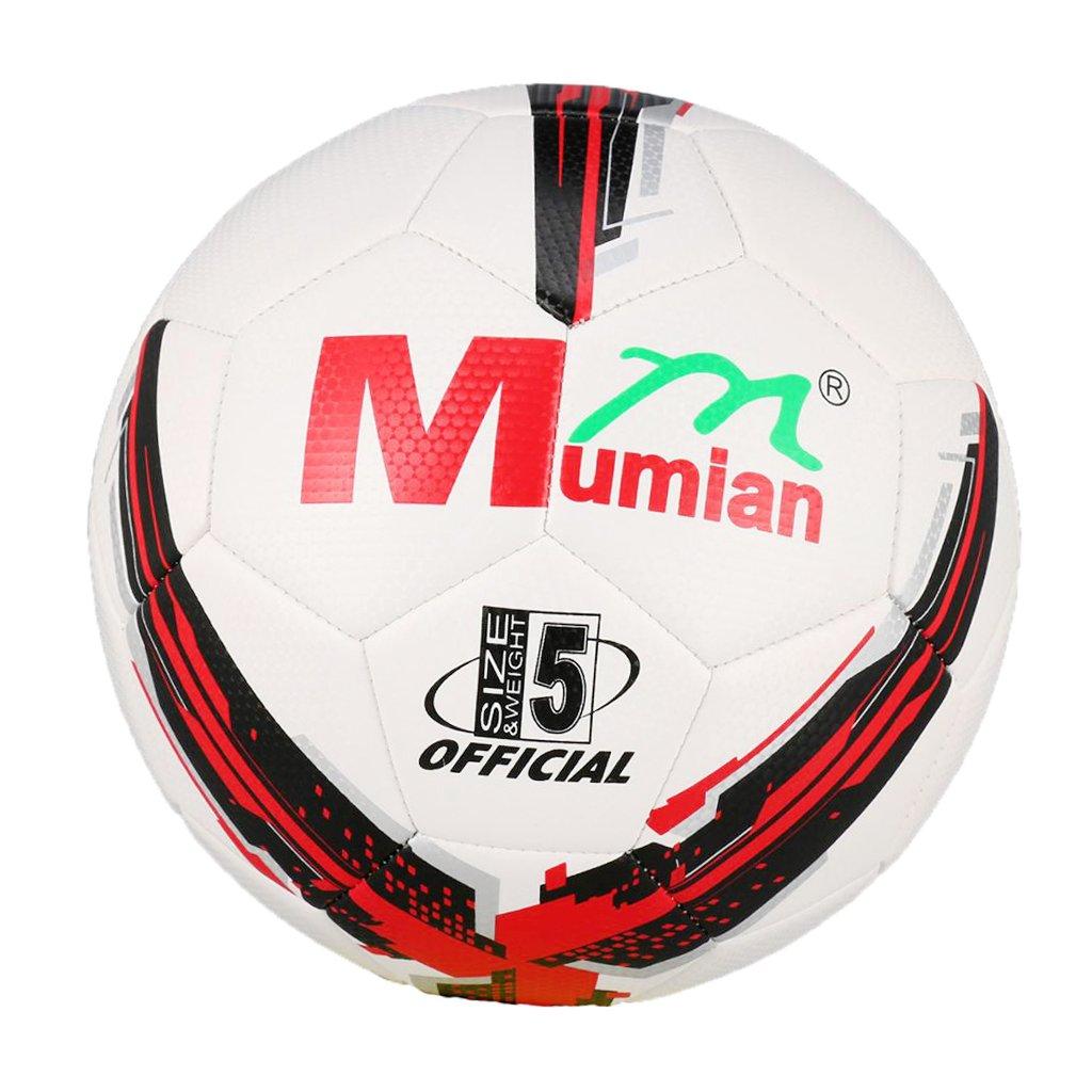 D DOLITY - Balón de Fútbol con Cuerda, Impermeable, Rojo y Blanco ...