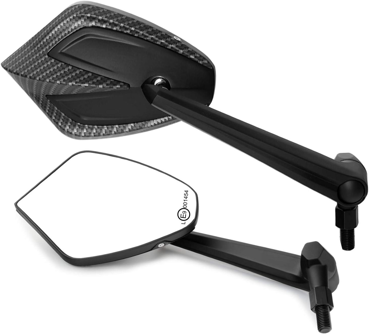 Universal Motorroller R/ückspiegel Set kompatibel mit mit 2x M8 Rechtsgewinde V37