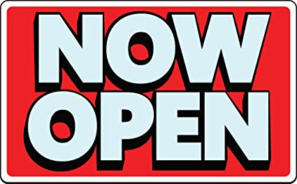 amazon com now open sign grand opening business retail store