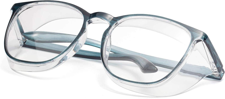 Padgene Anti-Fog Schutzbrille Anti-Speichel Augenschutzbrille mit seitlichen Lufteinl/ässen Chemie Transparente /Üerbrille f/ür Brillentr/äger Werkstatt und Fahrrad Brillen 1 St/ück Labor