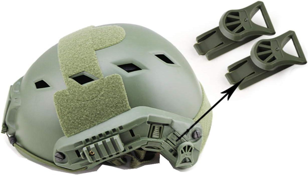 SGOYH Airsoft Taktisch Helme Zubeh/ör Side Rail Buckle Nachtsichtbrille Rotary Clamp Rail Adapter f/ür BJ PJ Mich Fast Helme Schwarz//DE//OD Gr/ün