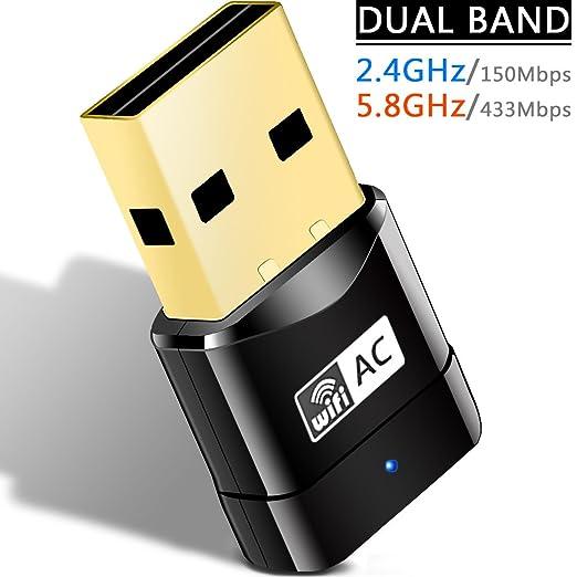 31 opinioni per Heiyo Adattatore Networking USB Wireless, AC600Mbps 802.11a/b/g/n Wi-Fi Dongle