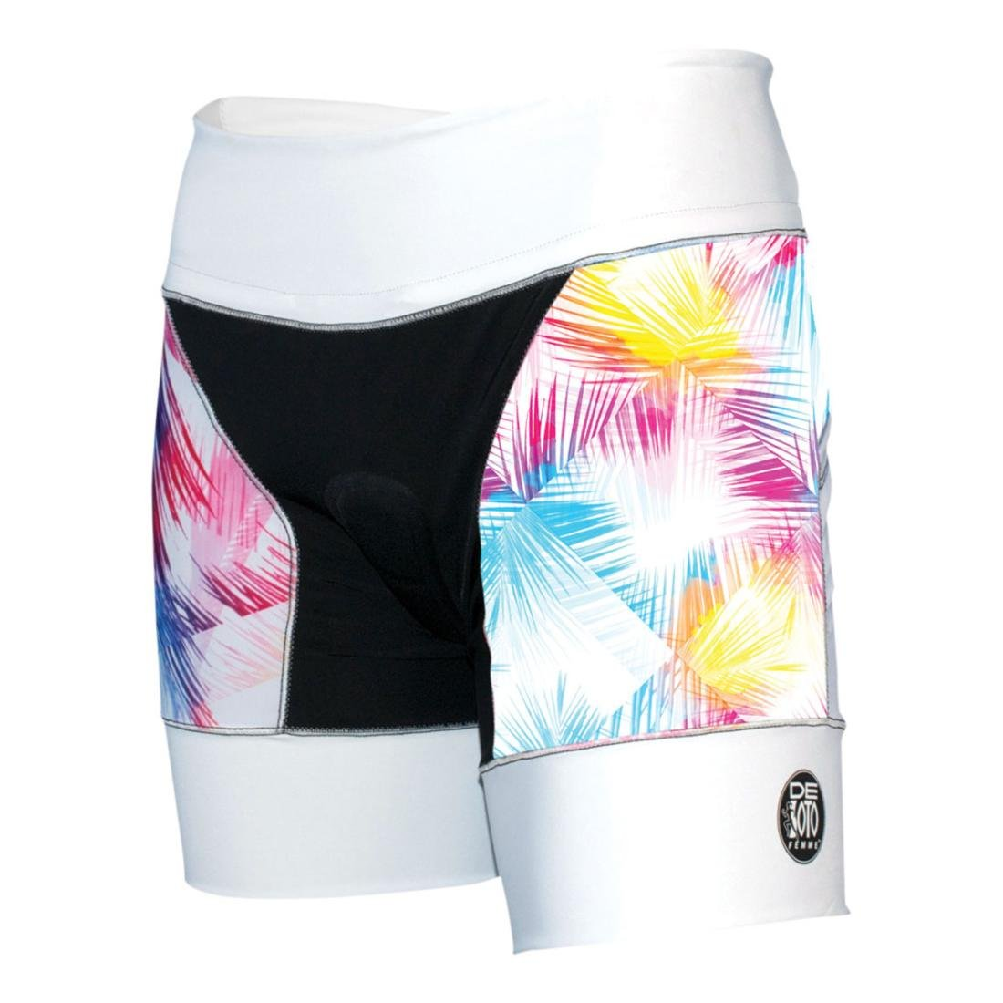De Soto Sport Femme Riviera Tri Short (WRTS2) - White/Feather Print; Size: Small