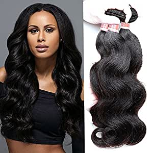 3 Virgin Unprocessed Brazilian Body Wave Human Hair Weave Bundles Wefts Extensions Deal with Mixed Lengths 16 18 20 Inch 300 Grams