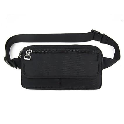 b252fa4462936 Ultraslim Nylon Waterproof Stealth Small Running Travel Waist Bag Packs  (Black)