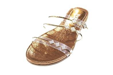 Wear & Walk UK , Damen Sandalen 36-42, rot - kastanienbraun - Größe: 36.5