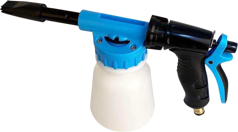 Car Foam Gun Foam Cannon Blaster 6 Adjustment Ratio Dial Foam Wash Gun Connects to Garden Hose Foam Sprayer for Car Home Cleaning with 0.25 Gallon Bottle