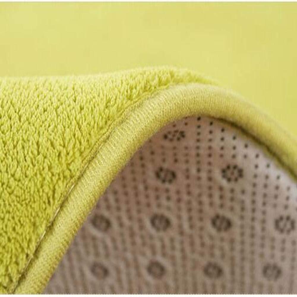 GBFR Round Bedroom Carpet Geometric Living Room Soft Chair Mat Kitchen Bathroom Non-Slip Waterproof Home Rugs Small rug Royal blue 60X60