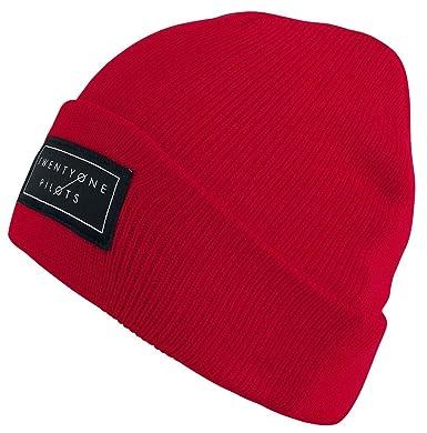 Twenty One Pilots Logo Beanie red  Amazon.co.uk  Clothing be15c195a84