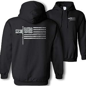Post Office American Flag Hooded Sweatshirt - Postal Worker Mail Carrier Camouflage USA Flag Hoodie Gift