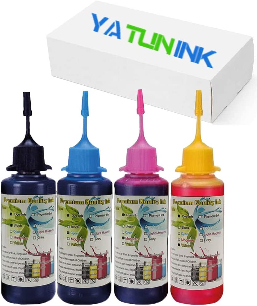 YATUNINK Premium Refill Ink Kit Replacement for HP 952XL 952 Ink Cartridge Compatible with HP Officejet Pro 7740 8200 8720 8745 Printer(4 Bottle)