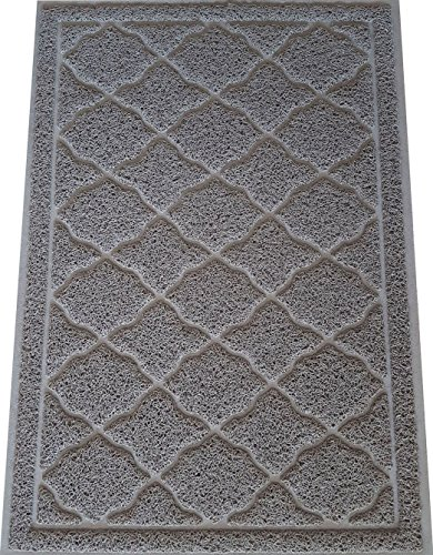 [KW Pets Non-Toxic Cat Litter Mat, Extra Large (35x23-Inch), Light Gray] (Sticky Proud Family Costume)