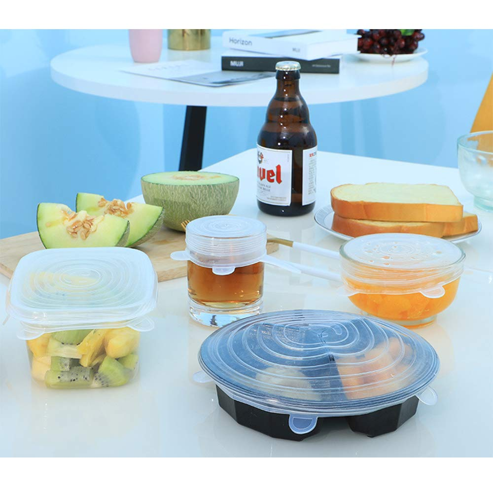 Microondas Amarillo MINGZE Tapas De Silicona El/ástica Protectoras para Alimentos 6 Paquetes Varios Tama/ños Reutilizable De Silicona Ajustables Sin BPA Horno Congelador Aptas para Lavavajillas