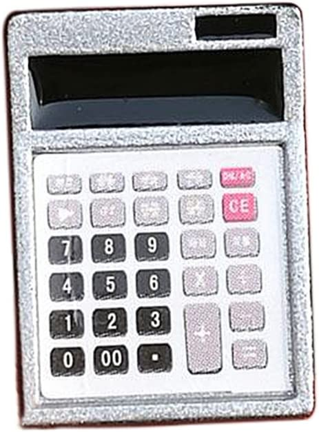 smallwoodi Doll House, Dollhouse, Dollhous-e Metal Calculator Home Office School Miniature Accessory Decor Gift