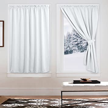 White Privacy Velcro Door Curtains