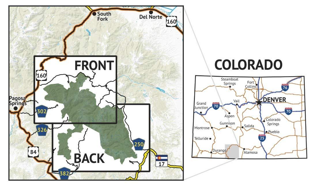 South San Juan Wilderness Colorado Topographic Hiking Map 2019