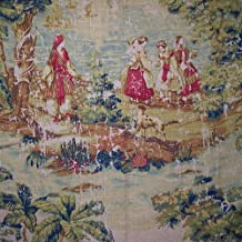 """54"""" Wide Fabric """"Bosporus, Color Antique"""" Covington Toile Fabric By the Yard"""