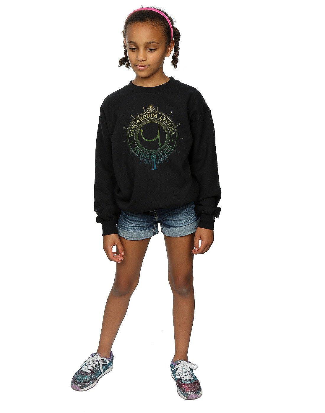 Harry Potter Fille Wingardium Leviosa Spells Charms Sweat-Shirt 9-11 Years Noir