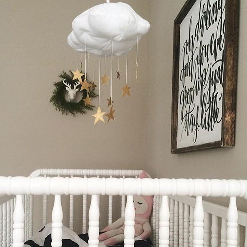 TOYANDONA 1PCS Cloud DIY Moon Star Hanging Ornament Cloud Hanging Ornament Creative Decoration for Room Decoration Baby Shower Kindergarten